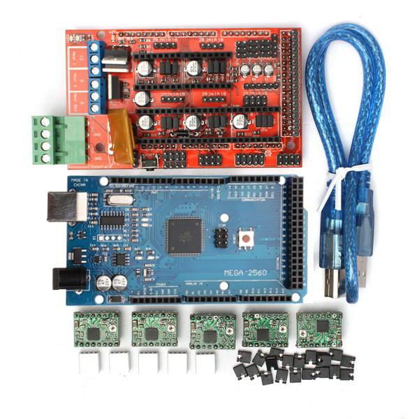 Geekcreit® Imprimante 3D RAMPS 1.4 Contrôlleur + MEGA2560 R3 + A4988 avec Kit Dissipateur de Chaleur