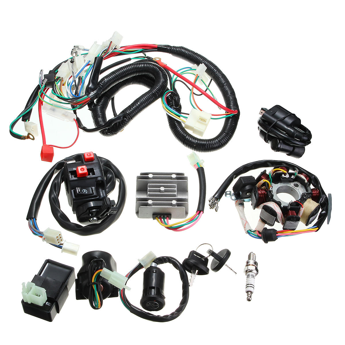 Miraculous 125Cc 150Cc 200Cc 250Cc Quad Electric Cdi Coil Wire Harness Stator Wiring Cloud Hisonuggs Outletorg