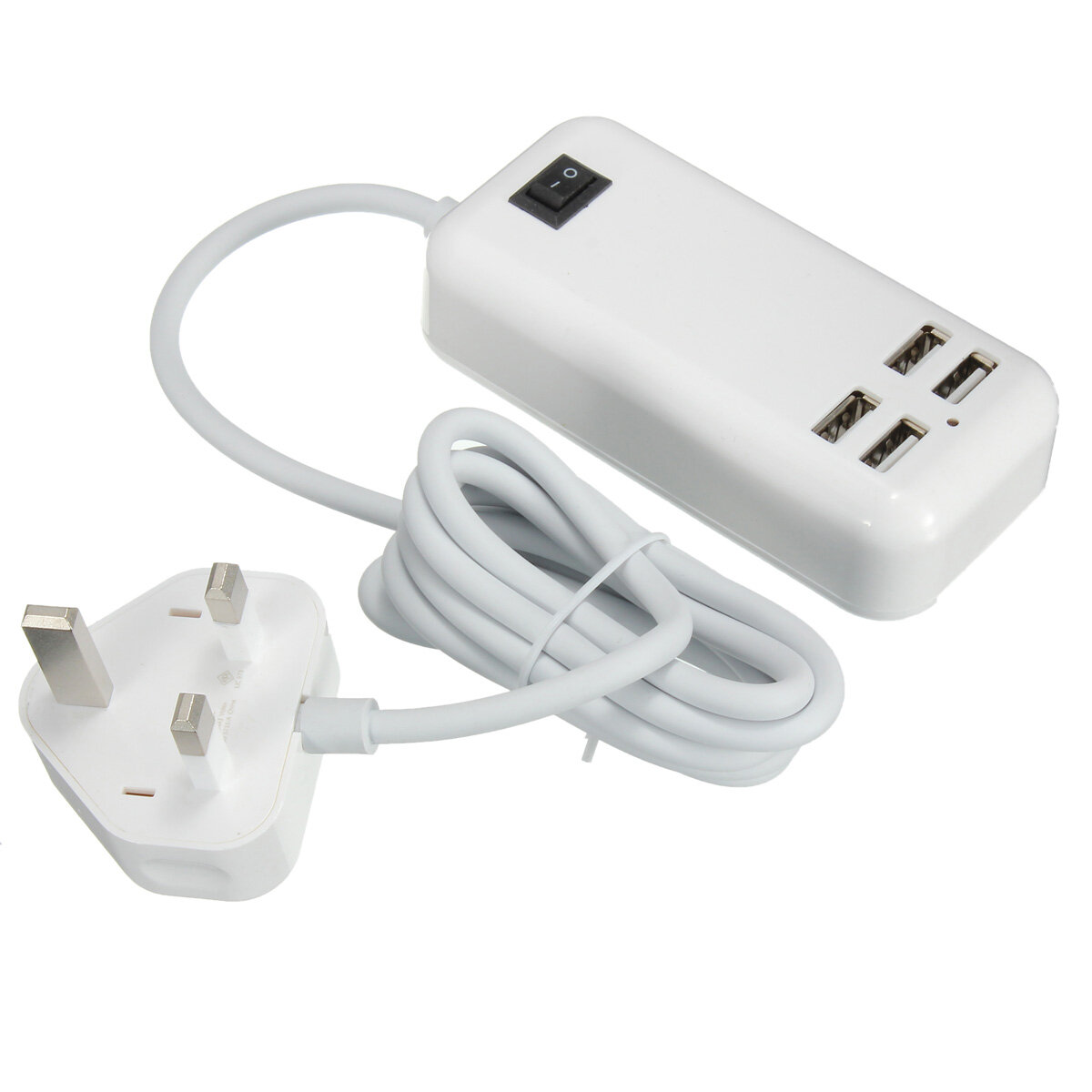 Claite 4 Ports Usb 3a Extension Socket Outlet Hub Charger
