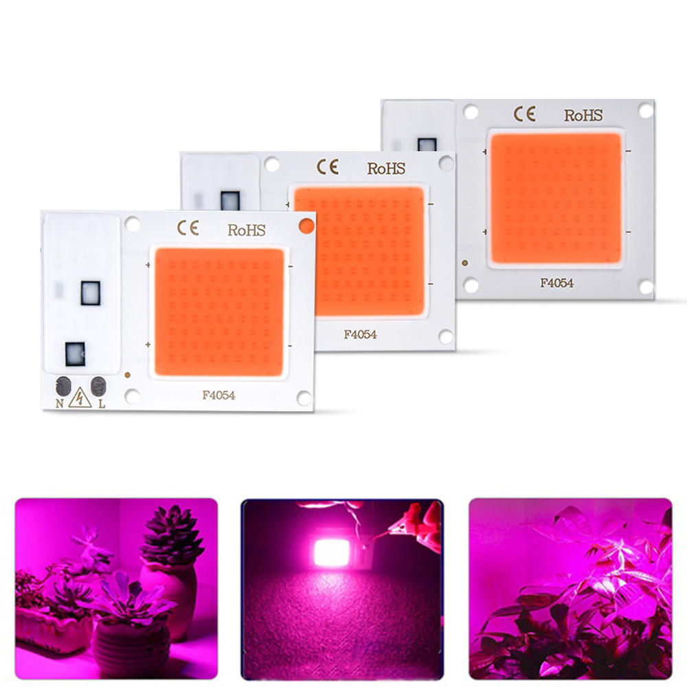 10W 20W 30W Full Spectrum 380-840NM Plant Grow Light LED COB Chip for Vegetable Flower AC180-265V