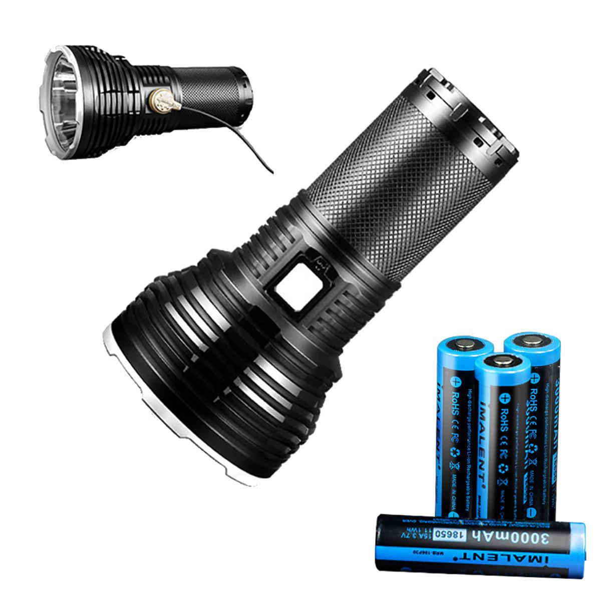 IMALENT RT35 KIT XHP35 HI 2350LM 1338m超明るい長時間鳴らしたUSB磁気充電多機能充電インジケータインテリジェント温度制御LED懐中電灯スーツwith 4x 18650