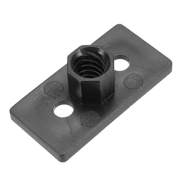 T8 Tuyau 4mm de plomb 2mm T Filetage POM Black Plastic Nut Plate pour imprimante 3D