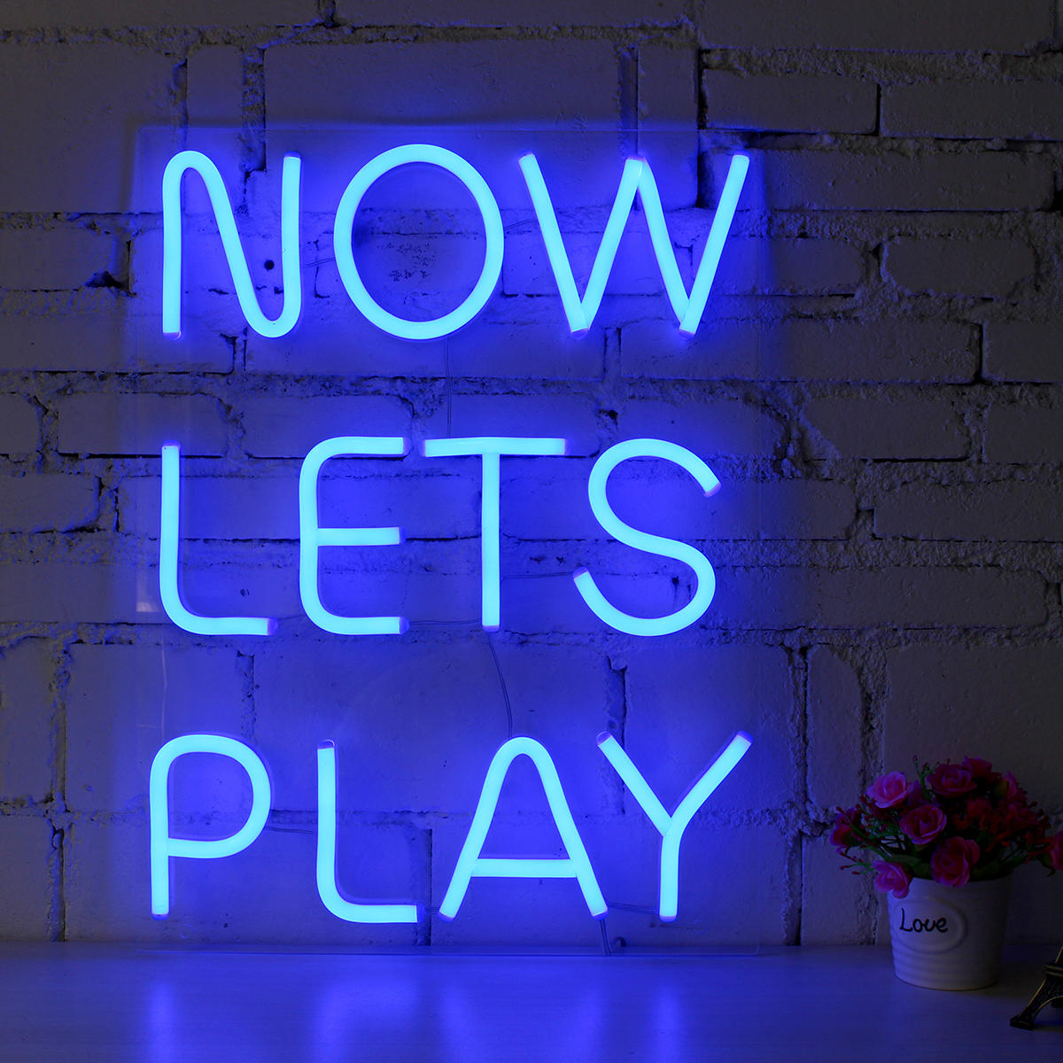 now lets play neon sign led tube visual artwork bar pub club wall rh banggood com