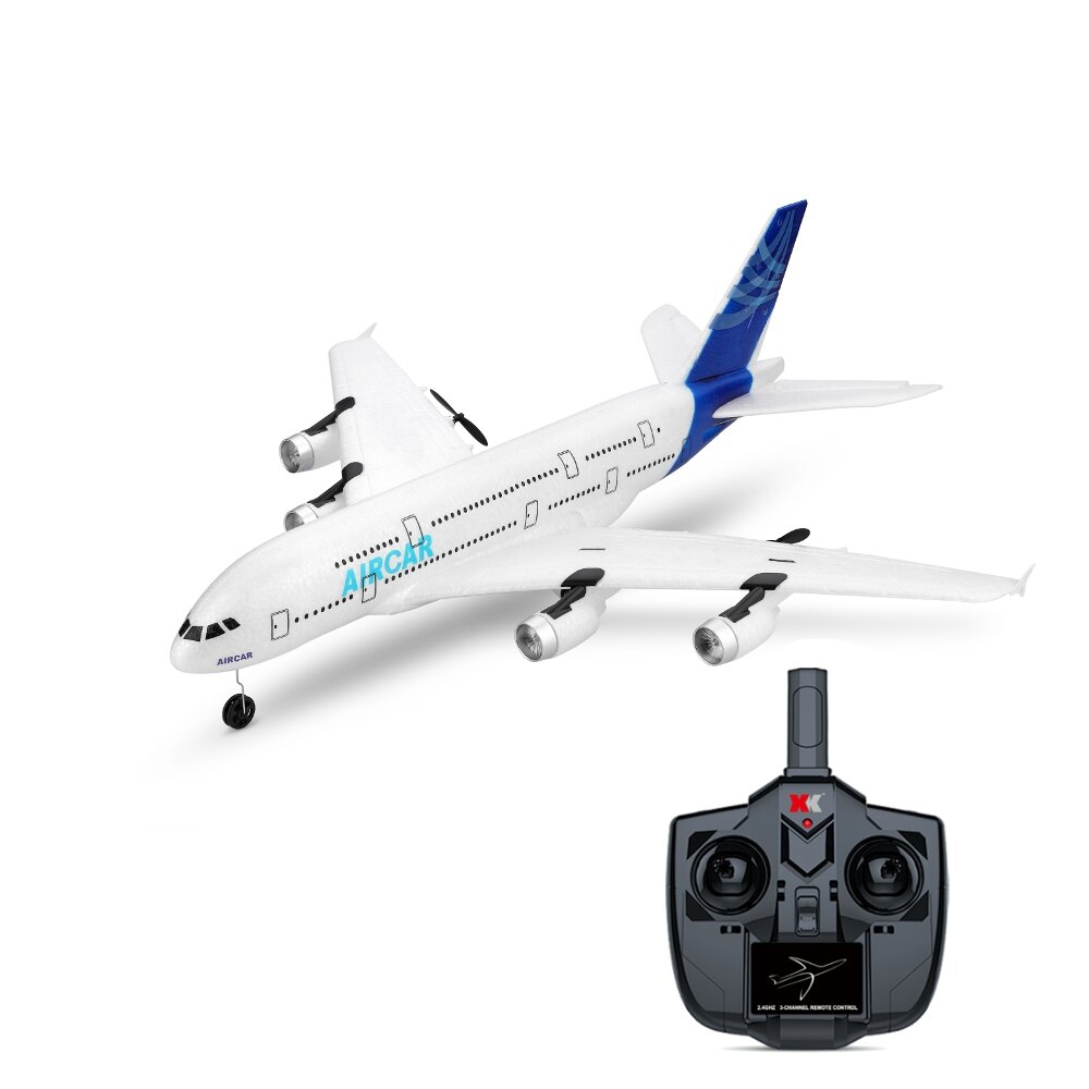 WLTOYS A120-A380 Airbus 510mm Wingspan 2.4GHz 3CH RC Drone Airplane Fixed Wing RTF With Mode 2 Remote Controller Scale Aeromodelling
