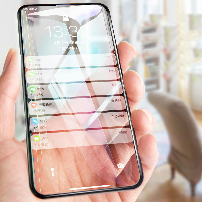 Bakeey 6D Arc Edge Anti Fingerprint Tempered Glass Screen Protector for iPhone XS Max COD