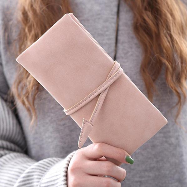 المرأة المال حامل الهاتف محفظة بطاقة محفظة لطيف طويل محفظة مع حزام