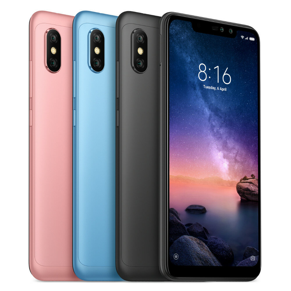 Xiaomi Redmi Note 6 Pro Global Version 6.26 inch 4GB 64GB Snapdragon 636 Octa core 4G Smartphone