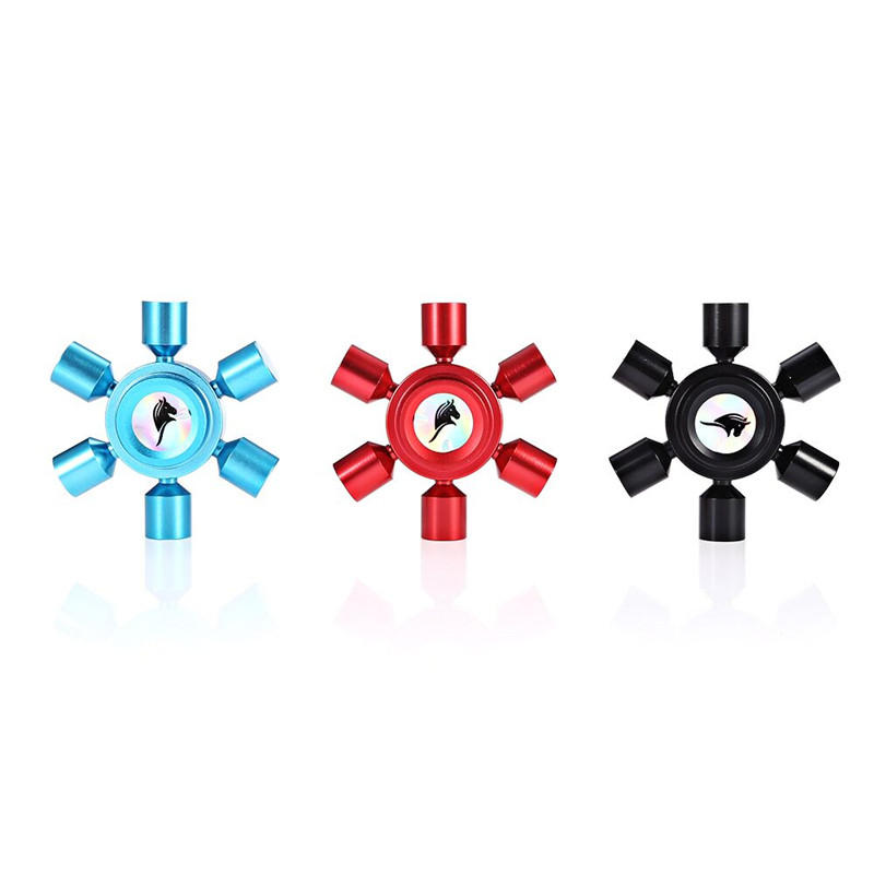 Hexagonal Fidget Hand Spinner ADHD Autism Fingertips Gyro Reduce Stress Focus Attention Toys