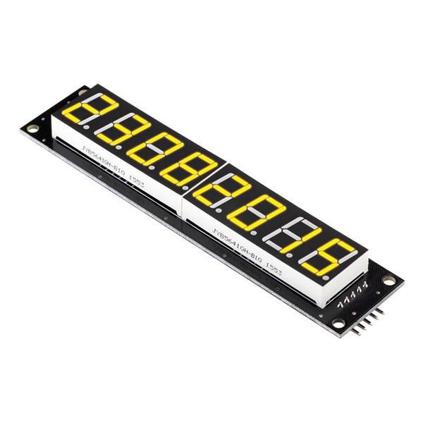 RobotDyn®8桁LEDディスプレイチューブ7セグメント74HC595モジュールイエローカラーボード