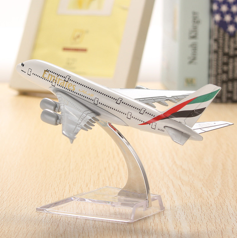 Wh a380 emirates avión modelo 16cm avión aeroplan diecast model collection decoration