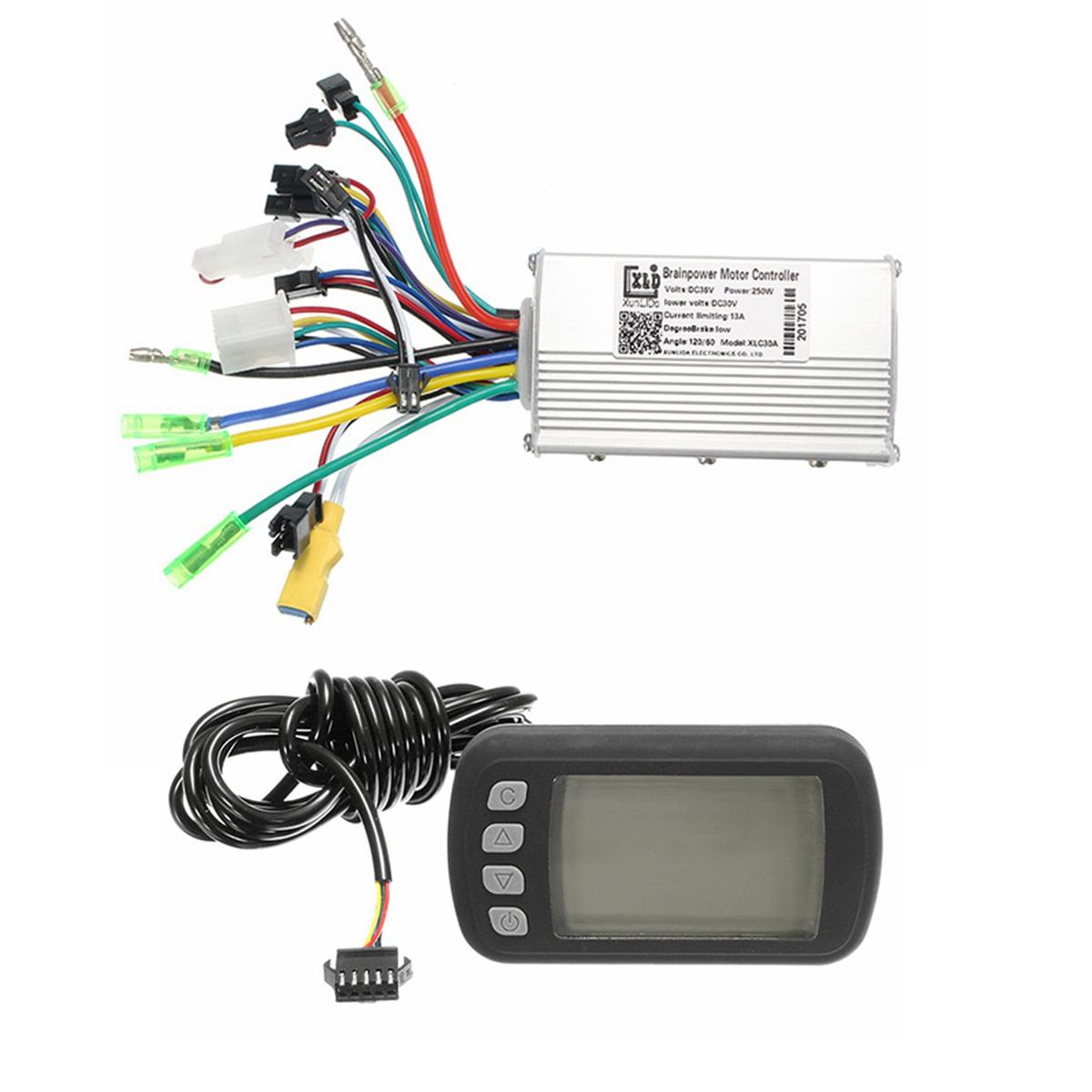 24v36v48v250w350w Bldc Motor Speed Controller Lcd Display For Mtb E How To Build Dc Bike Scooter Model A