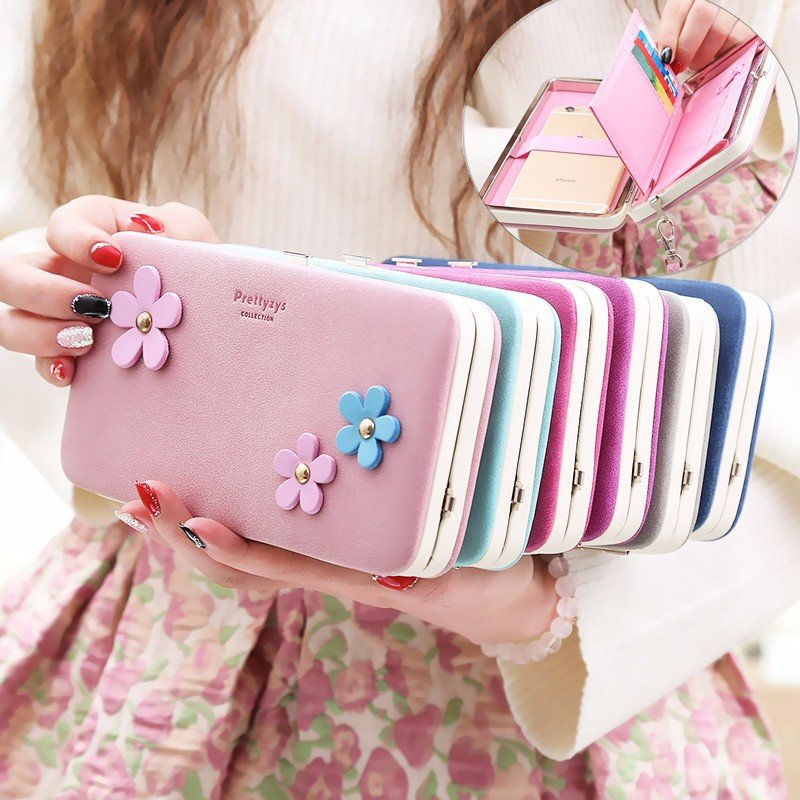 Prettyzys Universal Functionele Portemonnee Rits Tas voor Minder dan 6 inch Smartphone