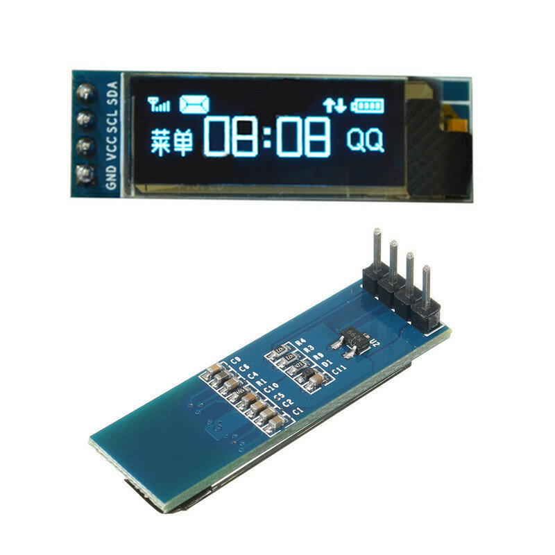 Geekcreit® 0.91 Inch 128x32 IIC I2C Blue OLED LCD Display DIY Oled Module SSD1306 Driver IC DC 3.3V 5V For Arduino PIC