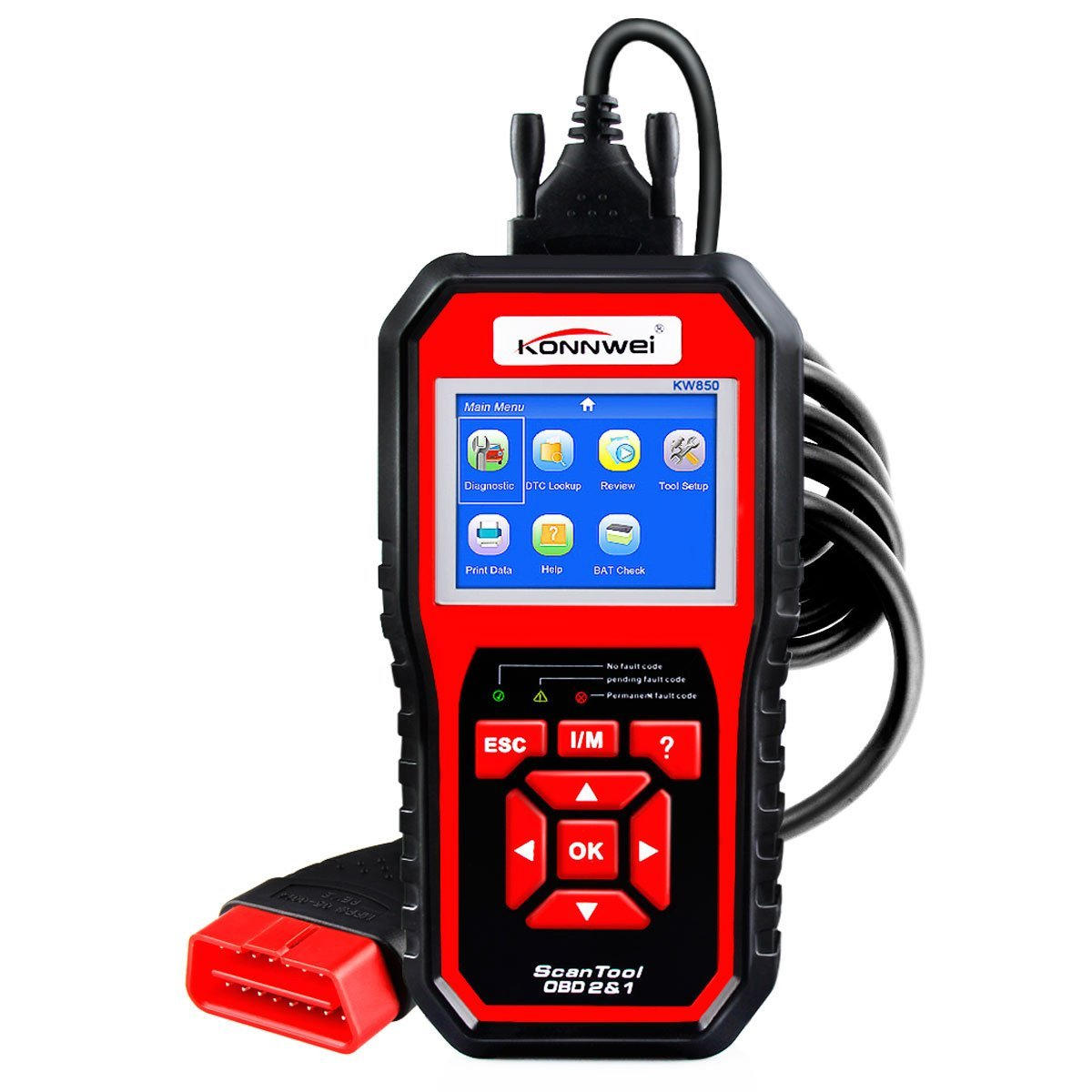 KONNWEI KW850 OBD2 Scanner Car Engine Fault Code Reader Automotive Car Diagnostic Scanner