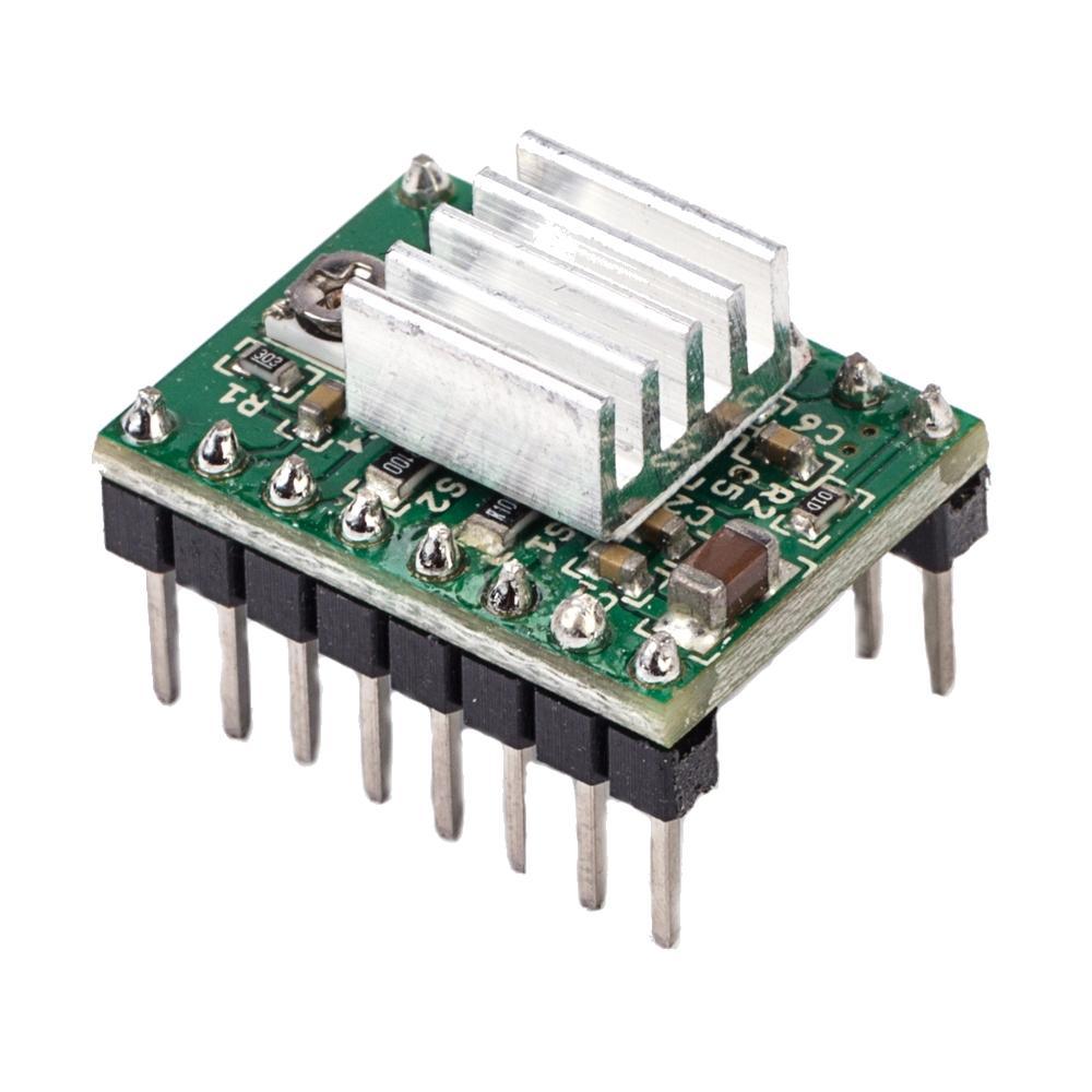 Flsun 2pcs A4988 Reprap Stepper Motor Driver Module With Heatsink Solid State Relay For 3d Printer