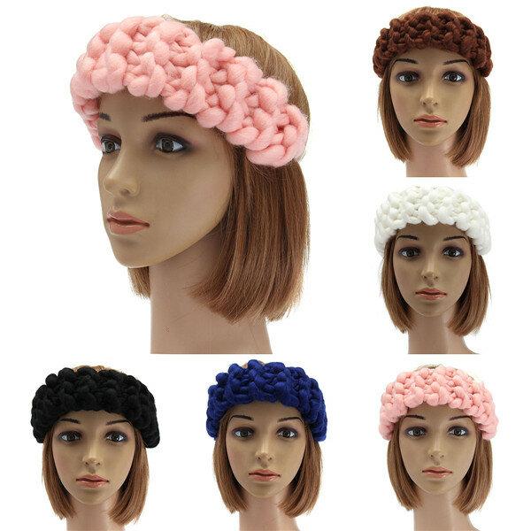 Vintage Handmade Knitting Hair Band Head Wrap Hair Accessories Winter  Autumn 5 Colors COD 8104d86d196