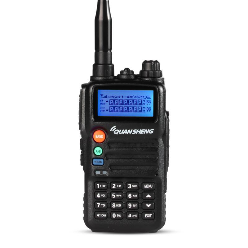 QUANSHENG TG-K2ATUV 100 Channels 400~480MHz Mini Dual Band Intelligent Charging Handheld Radio Walkie Talkie