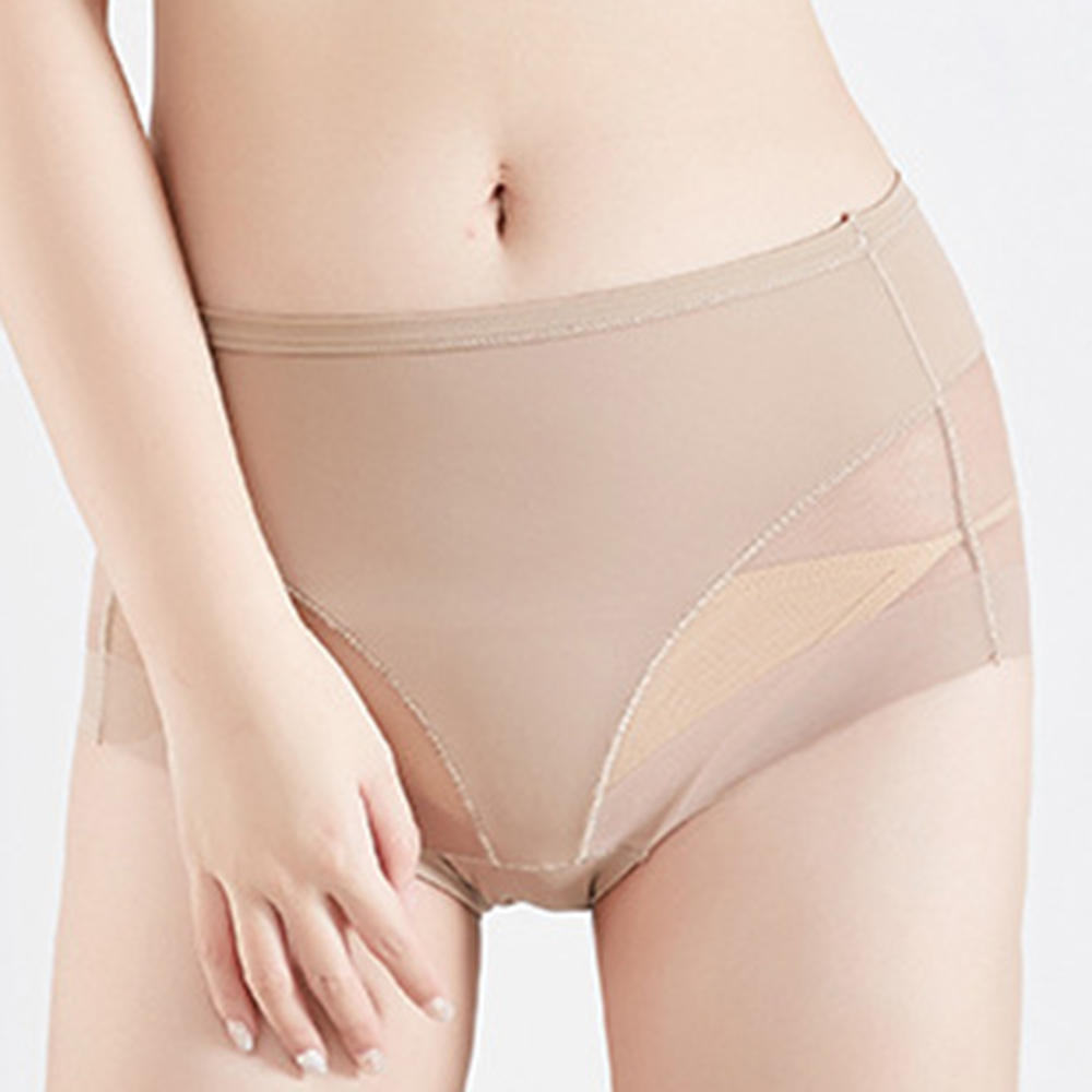 e366589d5a3ae Elastic Transparent Seamless Hip Up Waist Slimming Shaping Panties COD