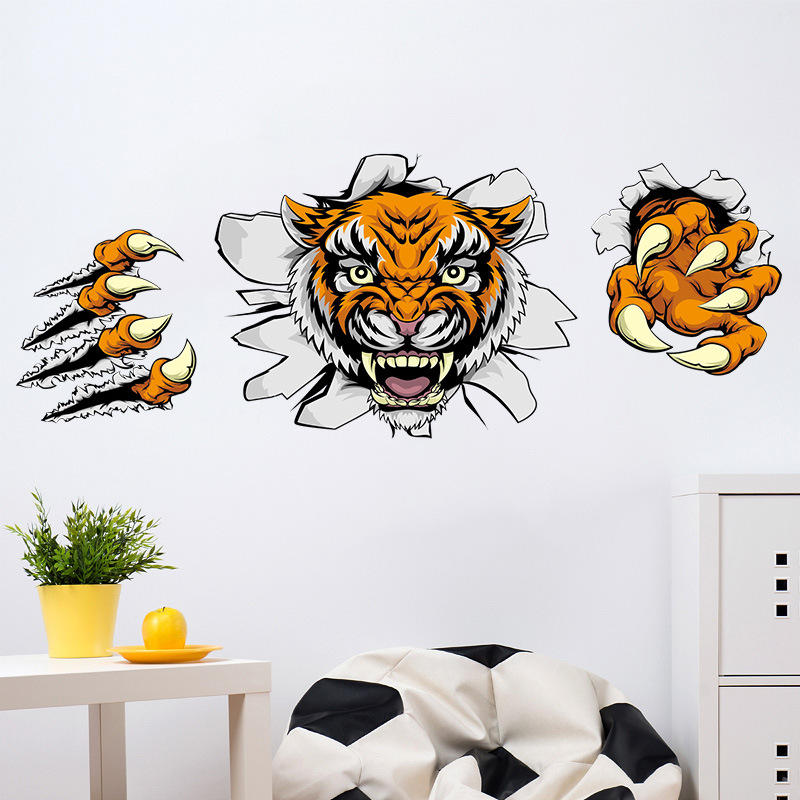 creative company office decorations wall stickers domineering 3d