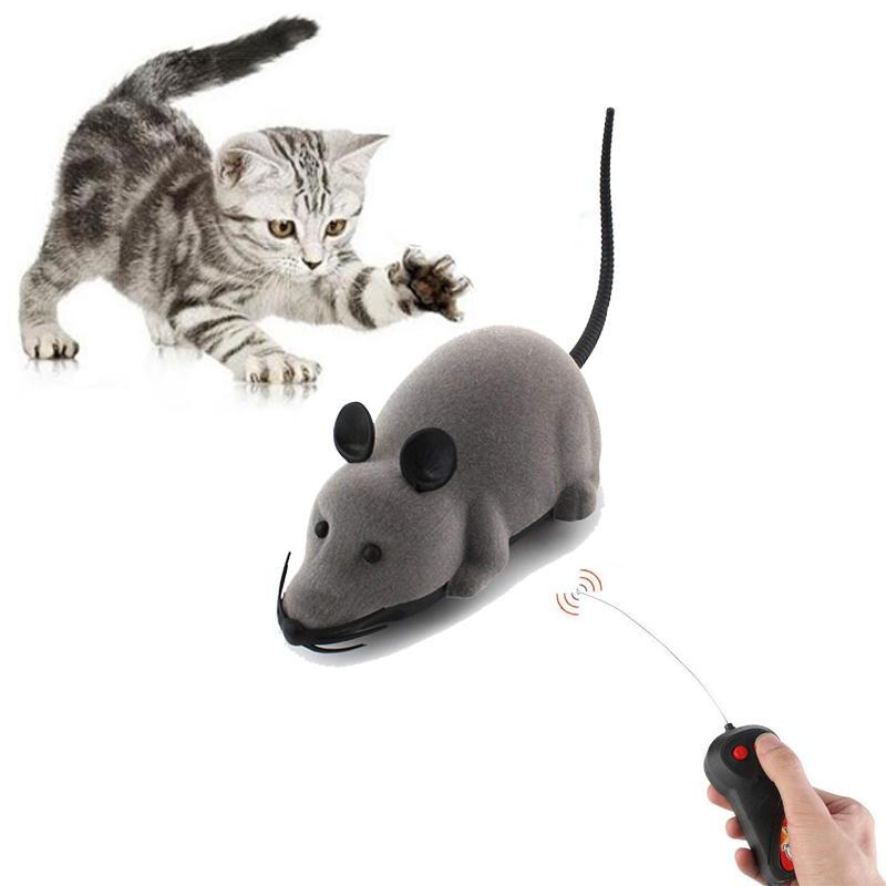 Yani juguetes creativos para mascotas electrónicos Control remoto ratón mascotas Gato Perro juguete realista juguetes de ratas flocado