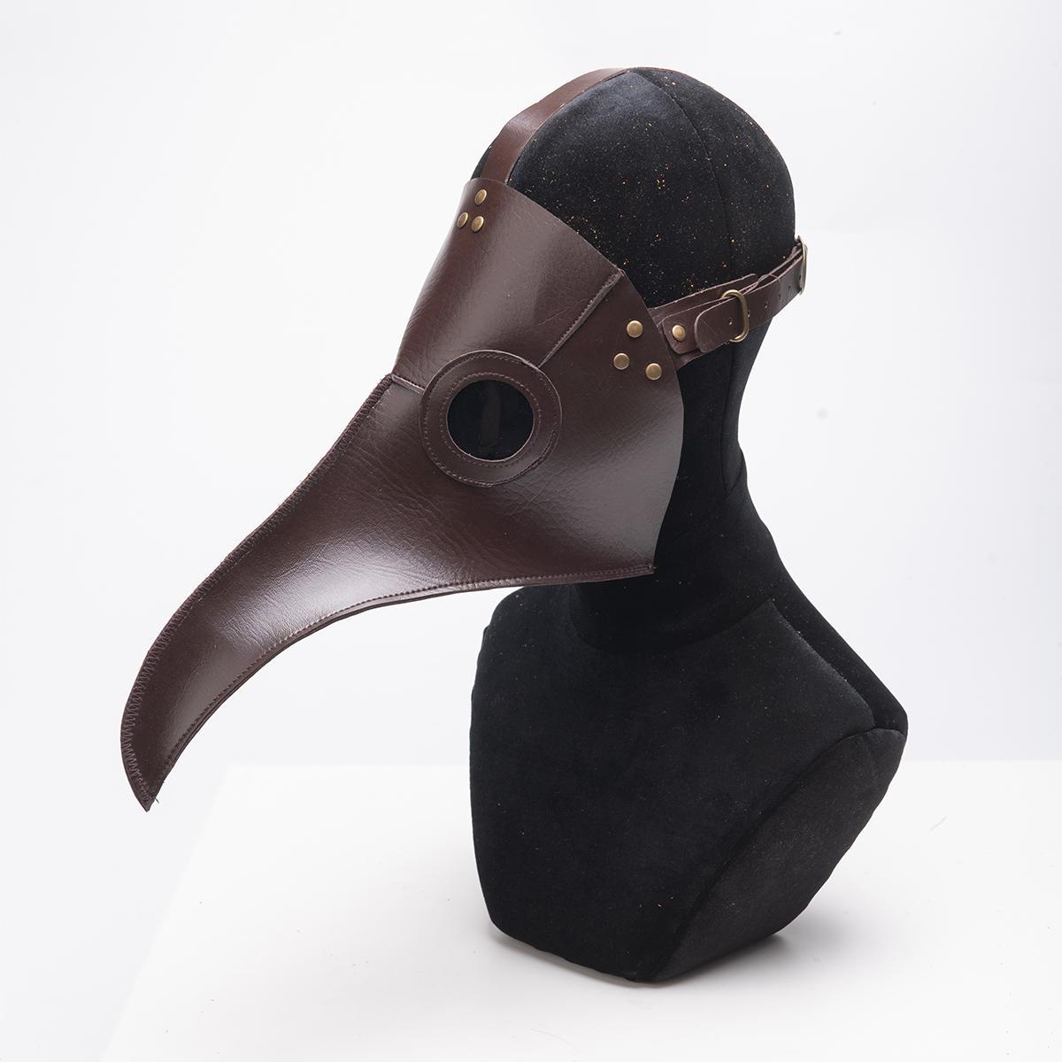 Halloween Plague Doctor Bird Steampunk Masque Long Nez Beak Cosplay Costume Props