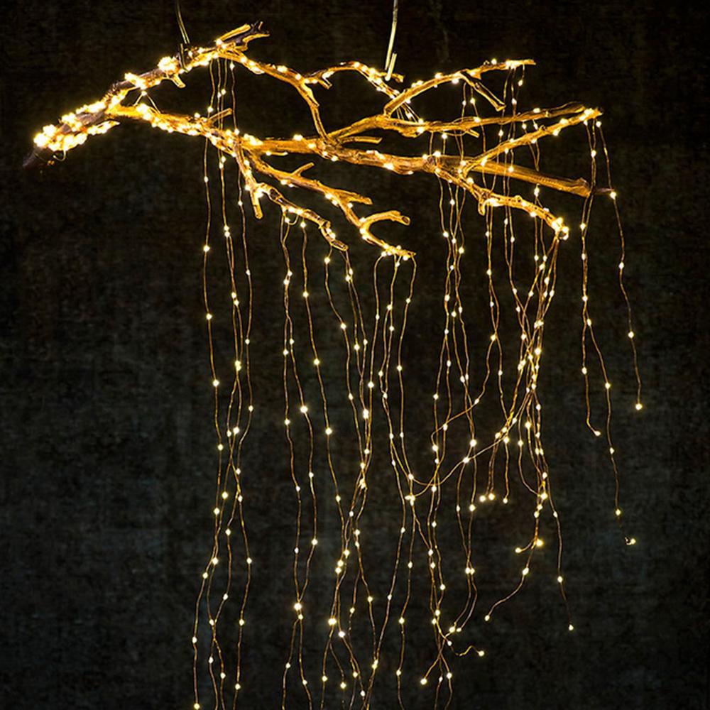 Solar Alimentado 8 modos Cobre Alambre 200 LED Christmas Tree Fairy String Boda Home Party Decor Light