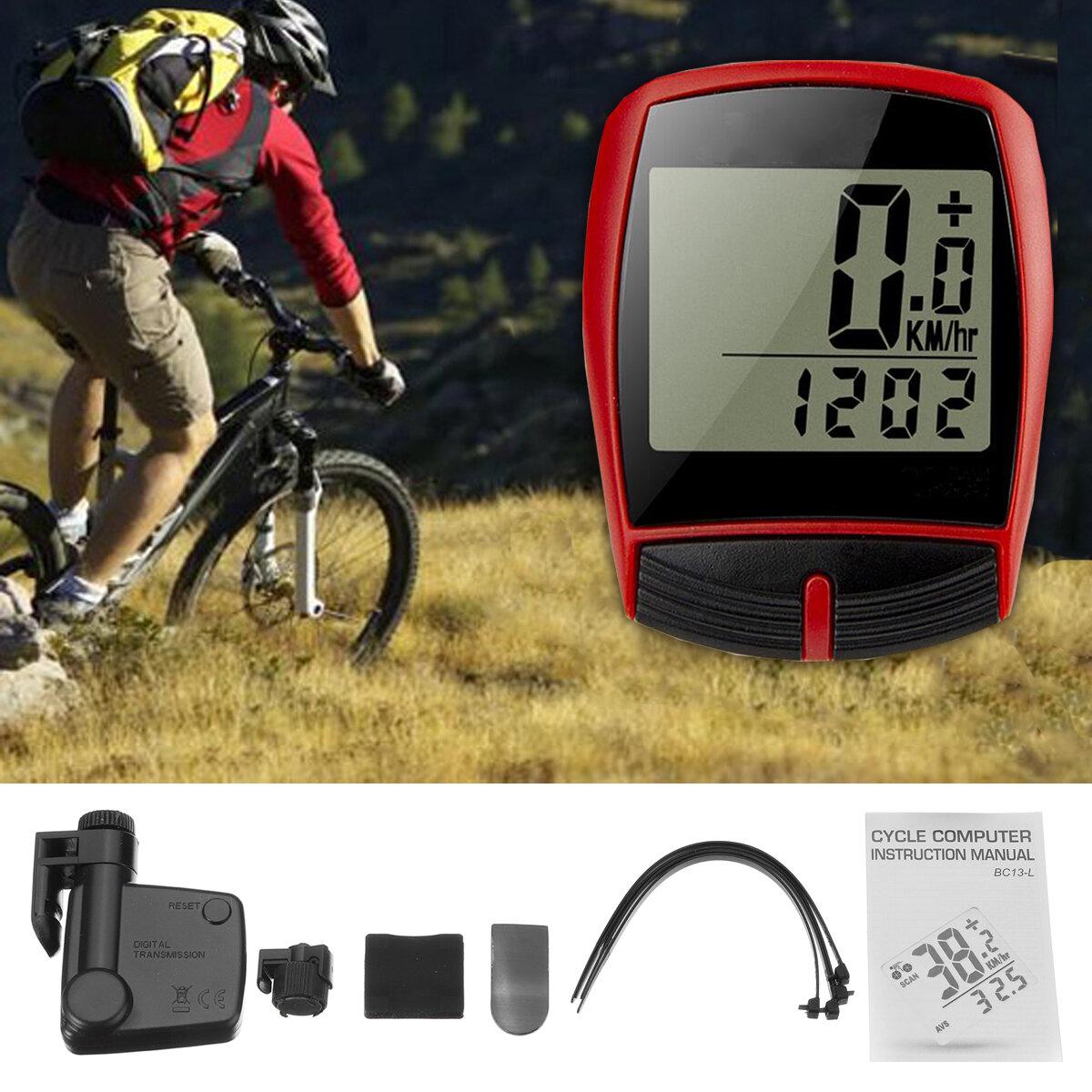 BIKIGHT Wireless LCD Cycling Bike Ciclo de bicicleta Cuentakilómetros Velocímetro Impermeable Luz trasera