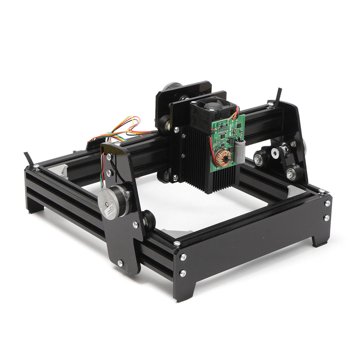 10W Mini DIY Laser Engraver Cutter Metal Stone Engraver Woodworking Engraving Machine 20×14CM
