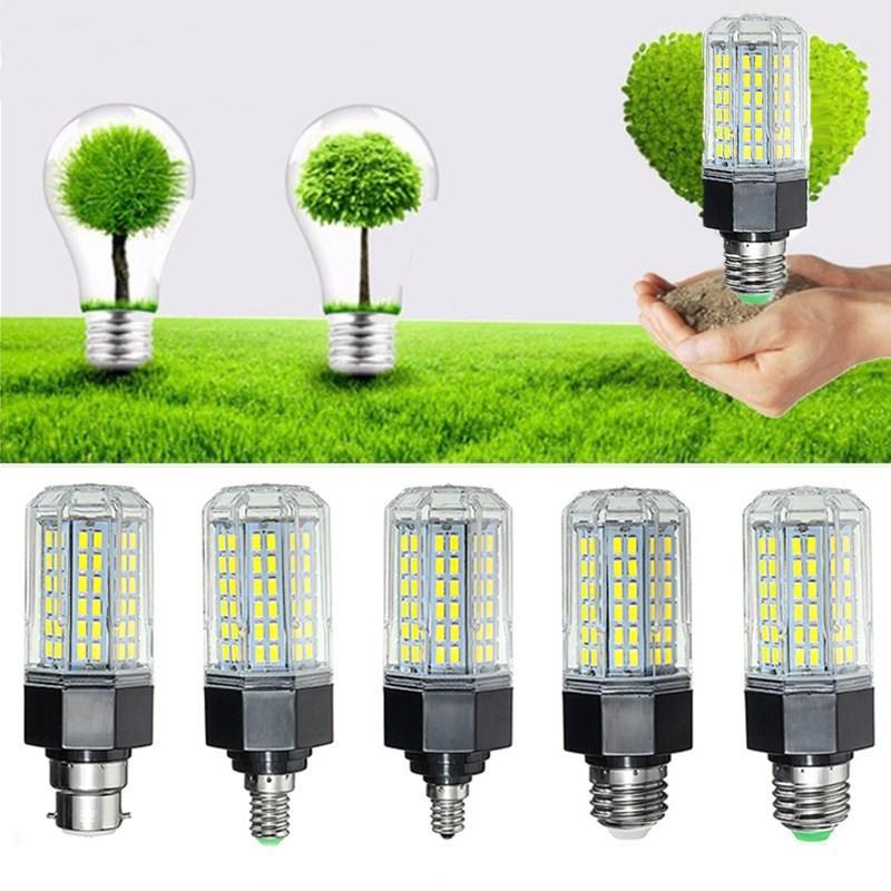 E27 E26 E12 E14 B22 12W 5730 SMD Non-Dimmable LED Corn Light Lamp Bulb AC110-265V