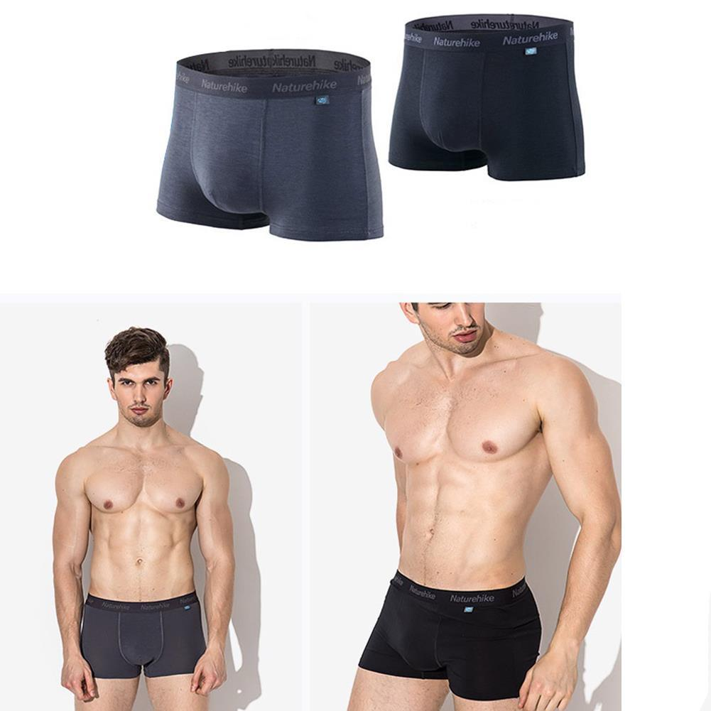 fc53345f8d9 NATUREHIKE CoolMAX Mens Sports Shorts Underwear Antibacterial Underpants  Quick Drying Breathable - Dark Grey M COD
