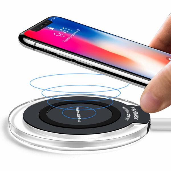 Bakeey 10 W LED Lamba Qi iPhone X Için Kablosuz Şarj Şarj Pedi 8 Artı S9 + S8 Note 8