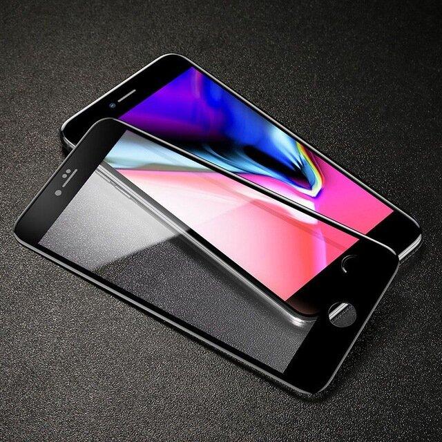 Baseus iPhone 7Plus/8Plus için 5D Eğimli Kenar 0.3mm Temperli Cam Film