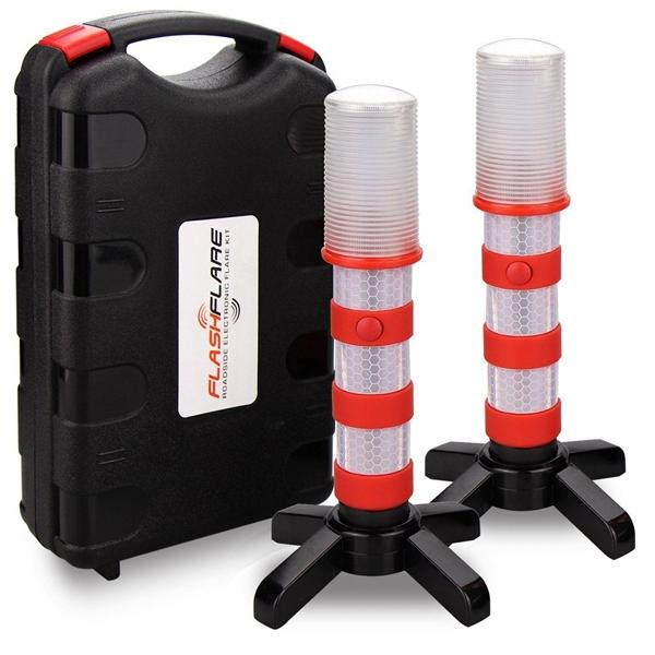 3 In 1 Road Warning Lights Beacon LED Emergency Roadside Flares Safety Strobe Lamp