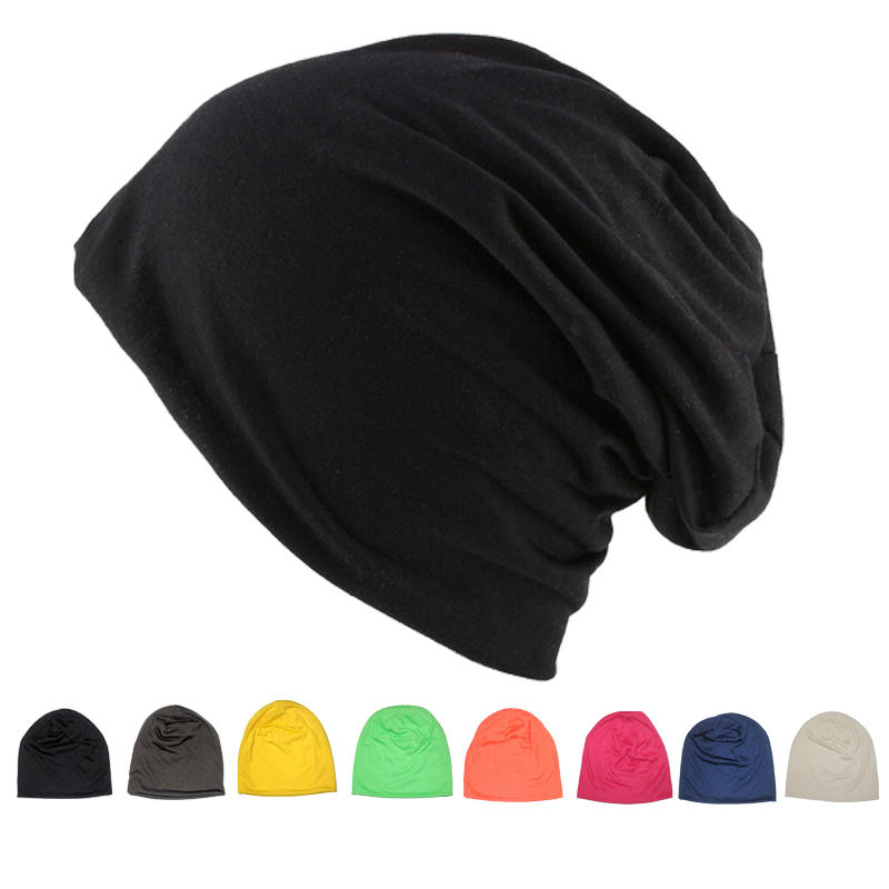 unisex baggy slouchy elastic beanie hat outdoor casual cap at Banggood f3dfc0d957b