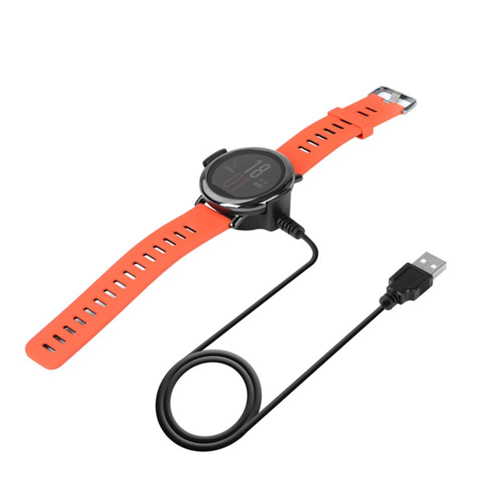 USB Şarj Kablosu Cradle Şarj Güç Kaynağı Kablosu Tel Xiaomi Amazfit Akıllı İzle için Dock