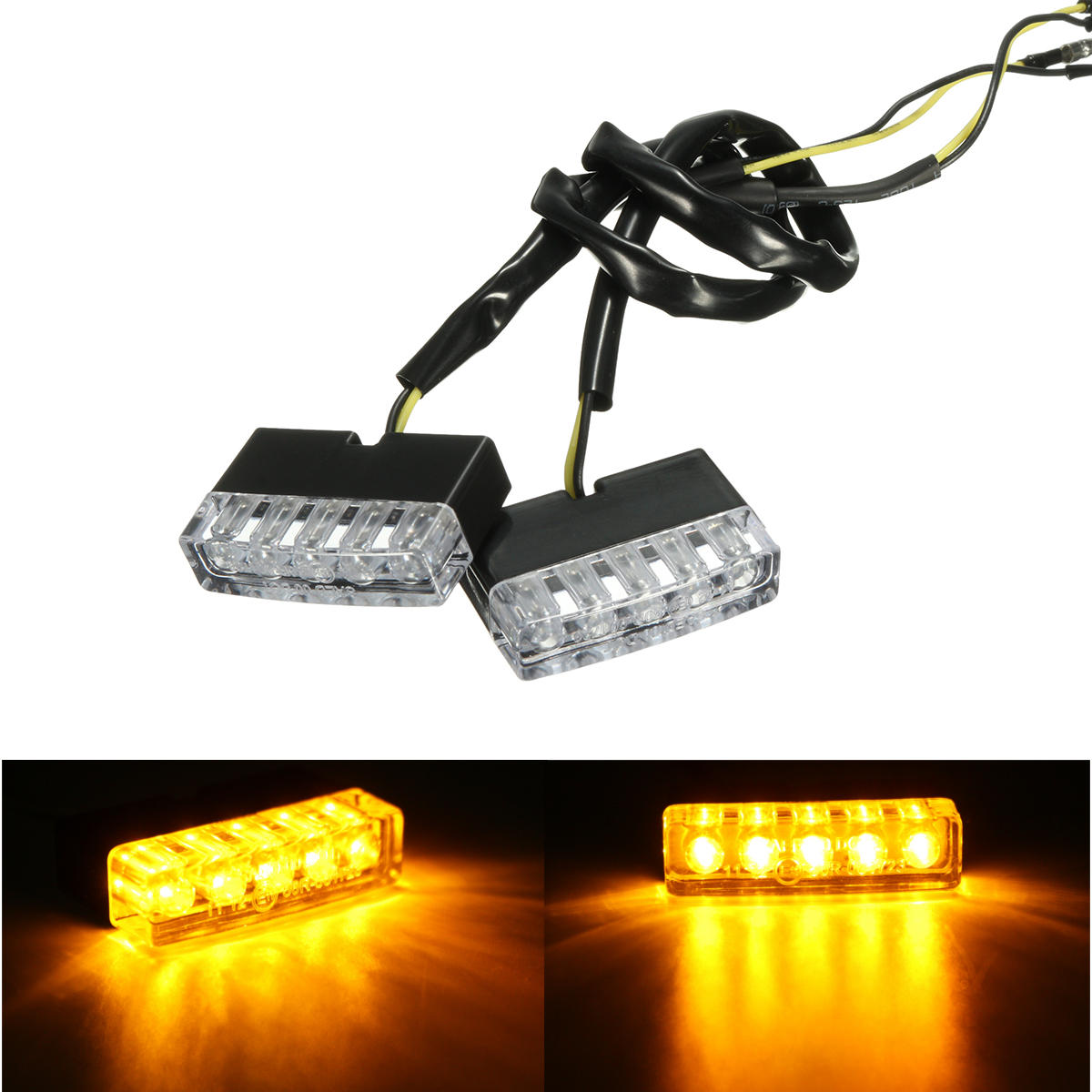12v motorcycle flush mount turn signal lights amber universal Sale ... 1ba1be524