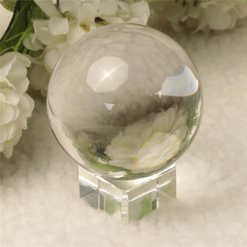 Quarzo specolo di palla di guarigione magico chiaro puro di vetro di cristallo slickball sfera 60 mm con stand