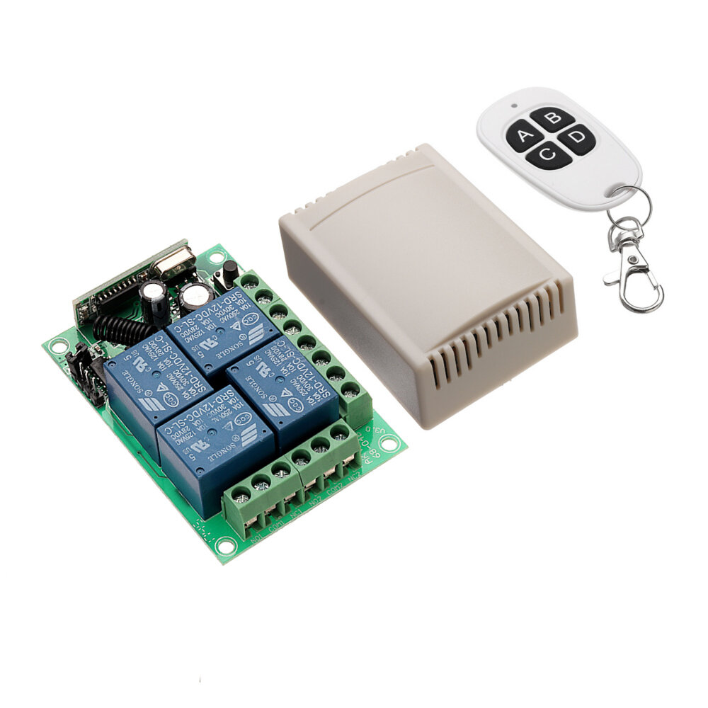 433mhz Dc 12v Learning Type 4ch Channel Wireless Remote Control The Relay And To Another Circuit Switch Four Way Module