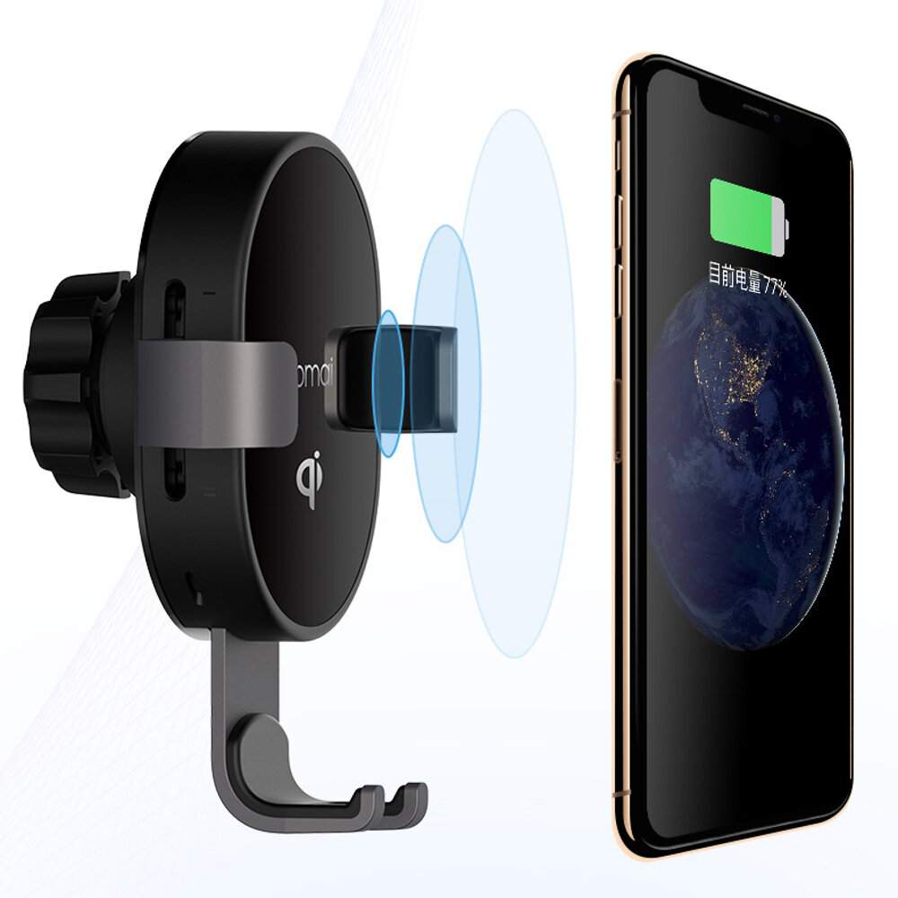 XIAOMI 70mai QI Certification Car Phone Holder 10W Fast Wireless Charger for Xiaomi Huawei iPhone