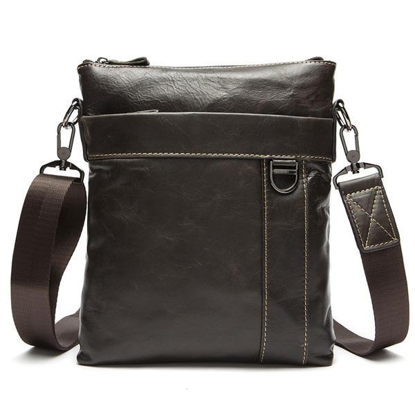 Genuine Leather Men Messenger Bag Business Retro Crossbody Bags
