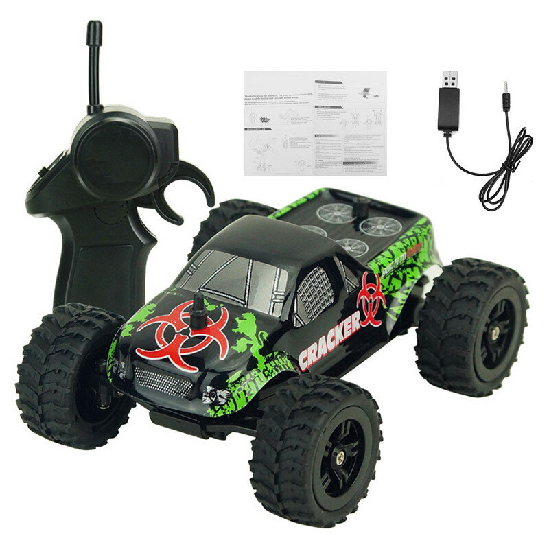 9115M 1/32 2.4G 2WD 4CH Mini High Speed Radio RC Racing Car Rock Crawler Off-Road Truck Toys