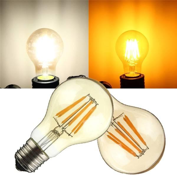 E27 E26 A19 6w Cob Retro Edison Lampe Nicht Dimmbar Led Glühlampe
