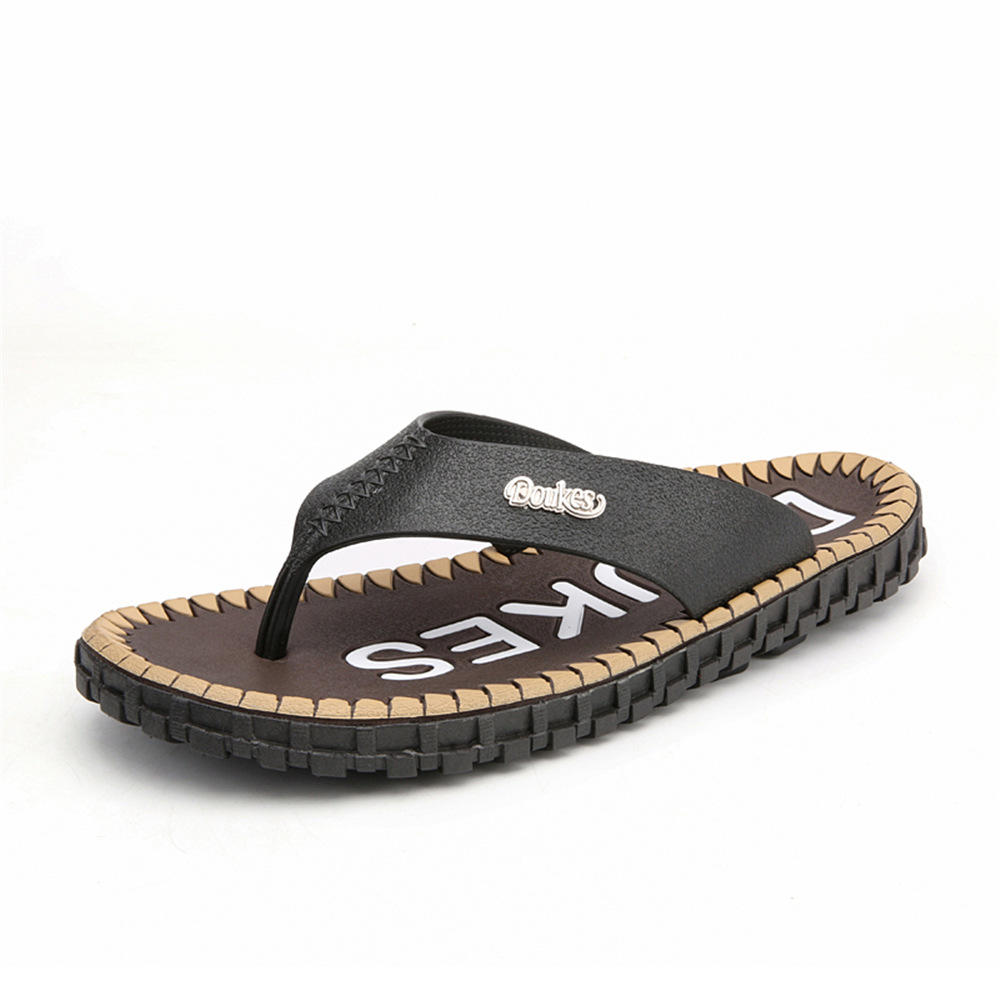 9c09a07ed10 men casual comfortable beach flip flops slippers soft shoes at Banggood  sold out