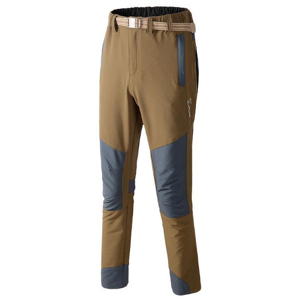 Men's Outdoor Sport Quick Dry Pants Winter Thick Elastic Force Breathable Thermal Hiking Trousers