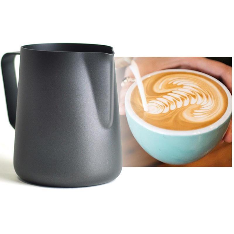 KCASA KC-BKM03 350mL Kalın Paslanmaz Çelik Ekspresyon Kupası Ölçüm Mutfak Craft Kahve Çözme Sütü Latte Art Jug Mutfak Aletler Gadgets Kupası