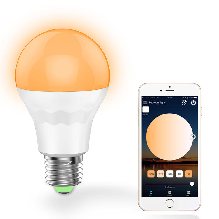E27 7.5W Warm White Cool White Smart Wifi LED Light Bulb Work with Alexa Google Home AC100-264V