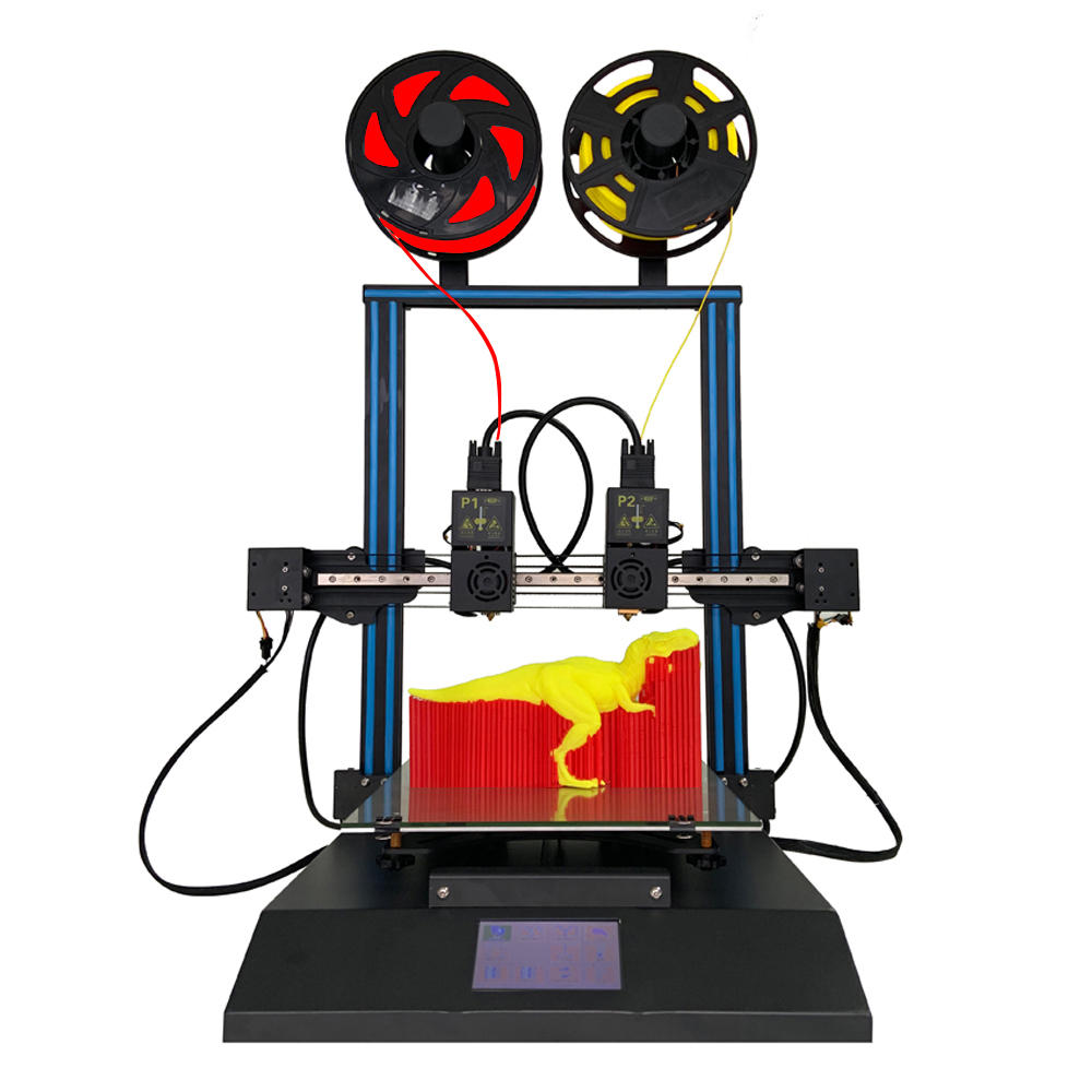 TENLOG® TL-D3 Pro Dual Extruder 3D Printer Kit 300*300*350mm Printing Size 4.3inch Large LCD Display Support Dual Nozzle/Print SD Card& USB Connect