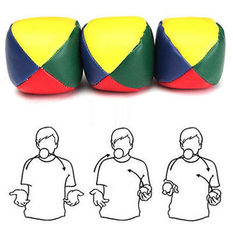 Набор из 3 шаров для жонглирования На открытом воздухе Спортивные бобовые дети Детские игрушки Мячи Classic Бин Сумка Жонглирование мячом