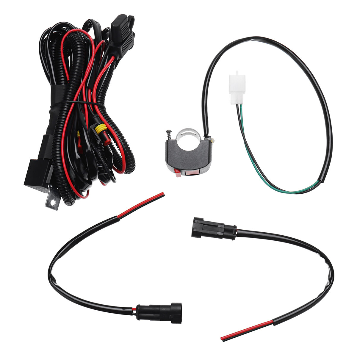 Peachy 10A Relsy Switch Fog Light Spot Wiring Loom Harness Kit For Wiring Digital Resources Antuskbiperorg