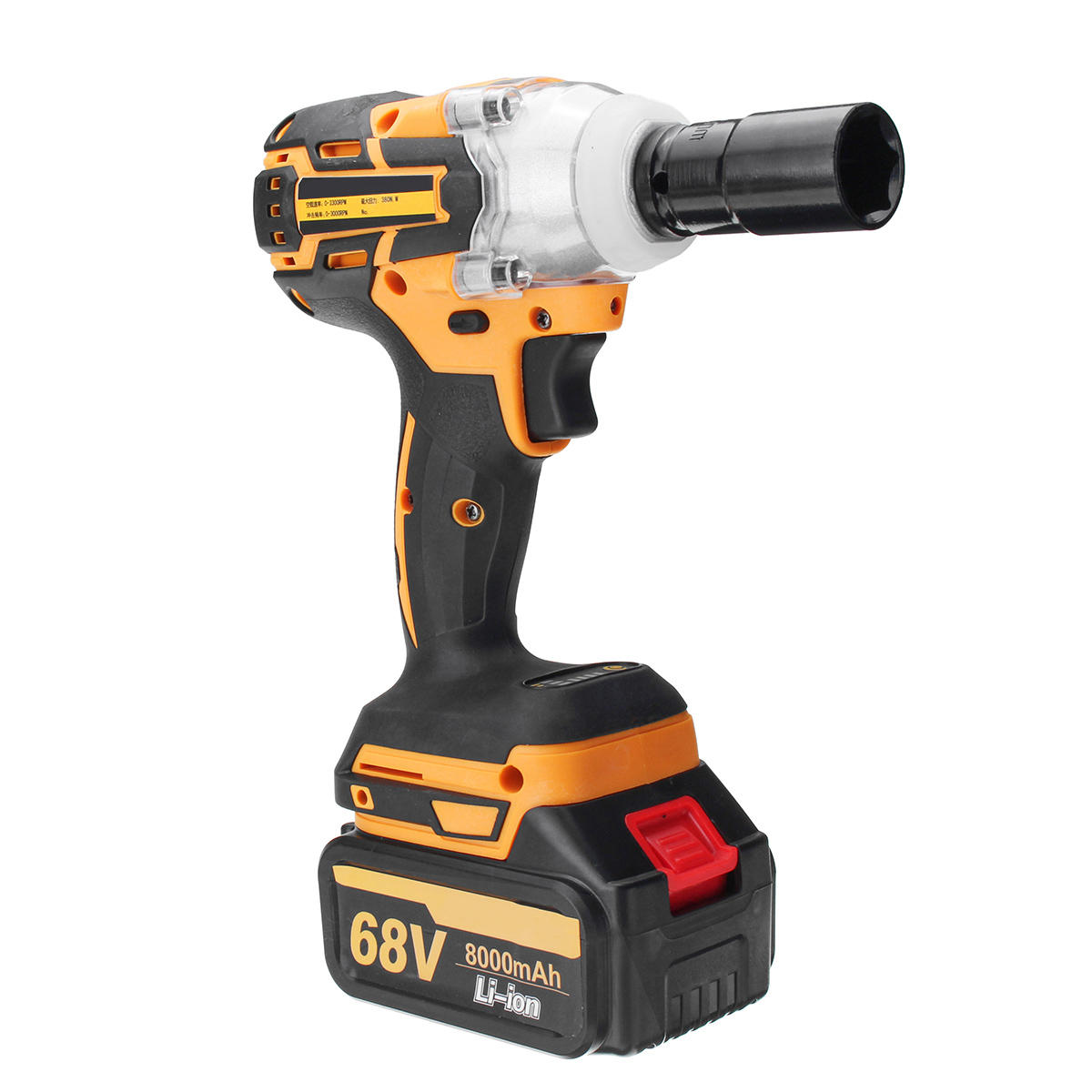 68v 6000mah 8000mah Electric Impact Wrench Cordless Brushless With 2 Rechargeable Battery Cod
